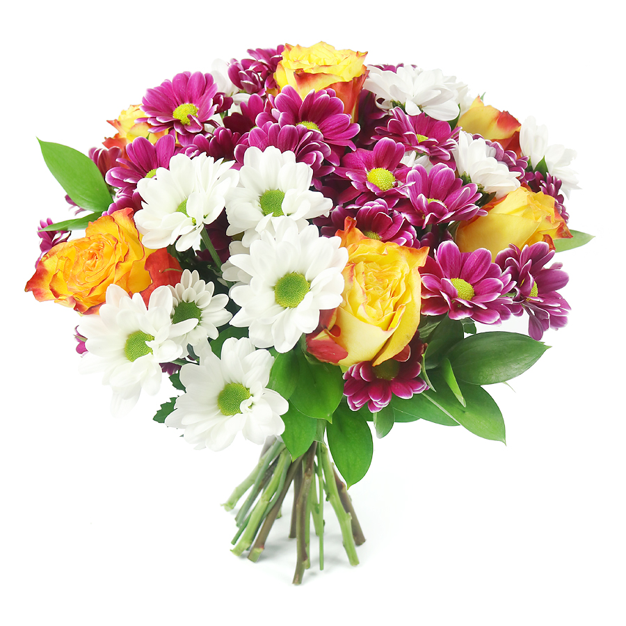"The perfect way to say ""I Love You"" with our bright bouquet."