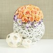 ORANGE ROSES WEDDING CENTREPIECE